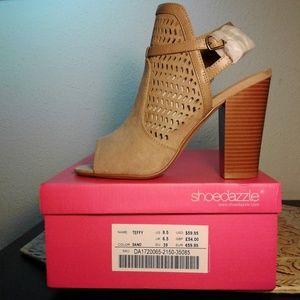 Teffy Lasercut Block Heel Open Toe Sandals